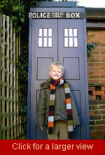 Elliot and Garden Tardis